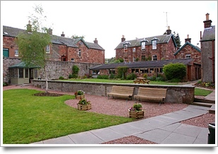 Castle Craig garden Skottland