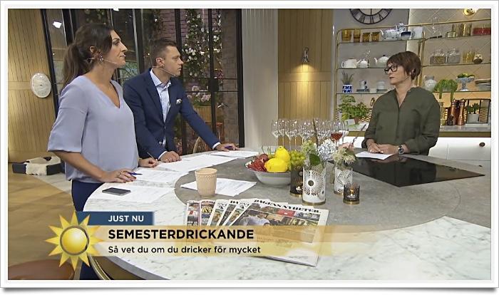 Anna Sjöström intervju TV4 om semesterdrickandet
